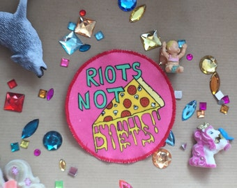 Riots not Diets Pink Patch