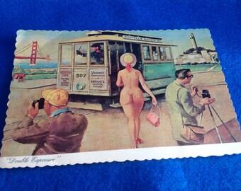 Vintage Double Exposure San Francisco Postcard