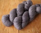 Polwarth 8ply hand dyed yarn Basalt