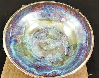 Purple/Blue Large Ceramic Bowl, Pottery Bowl, Decorative Bowl, Ceramic Serving Bowl, Pottery Serving Bowl, Fruit Bowl, Pasta Bowl