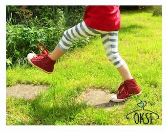 Leggings trousers for children denim white Blue