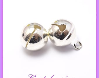 20 charms charms Jingle Bell, silver, silver color, 8mm x 11 mm