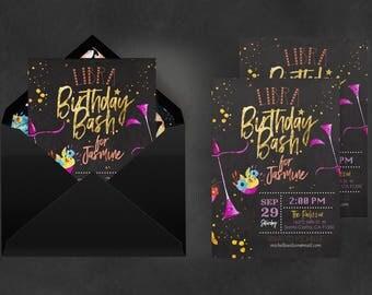 Zodiac Invitation Libra   Astrology Invite, Invitation Printing, Birthday Libra, Libra Constellation, Zodiac 2018, Constellation Art