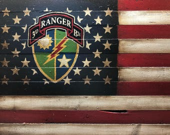 Army Ranger American Flag, US Army Ranger Flag, 3rd Ranger Battalion, Military Flag, American Flag, Rustic American Flag, Army Flag