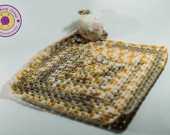 Barni the Bunny Handmade Baby Blanket/Toy
