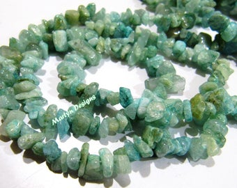 Genuine Aquamarine Chips Beads 5 to 10mm , Free Shape Uncut Aquamarine Beads , Strand 36 inches long , Natural Aquamarine Gemstone Beads.