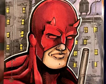 Daredevil Original Artist Sketch Card: Guardians of the Galaxy Volume 2, Upperdeck