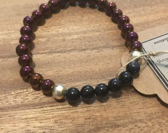 Magnetic hematite bracelet, healing gemstones,