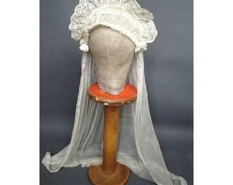 Vintage Art Deco 1920s/20s WEDDING VEIL Flapper Juliet Cap