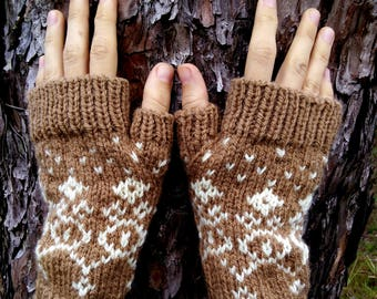 PDF Knitting PATTERN - Dalat Fingerless Mitts