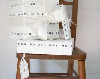 Luxury Mr And Mrs Wedding Gift Wrap And Tag by VINTAGE PLAYING CARDS