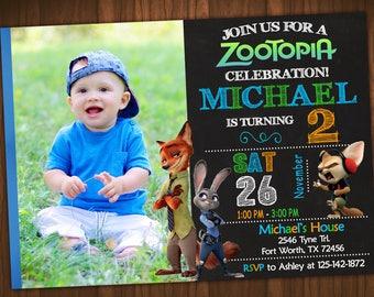 Zootopia Invitation, Zootopia Birthday, Zootopia Party