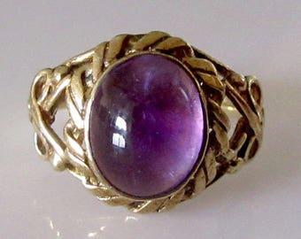 9ct Gold Amethyst Ring