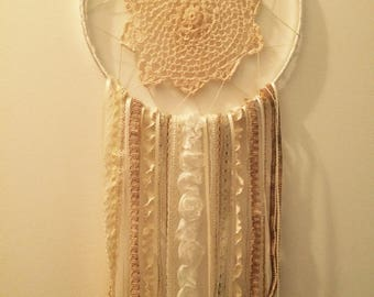 White and Cream Large Dream Catcher (Ready to ship)