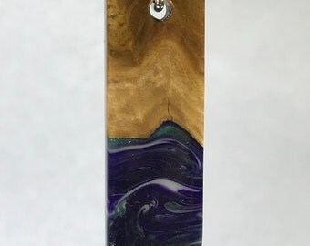 Purple and Green Waves Pendant