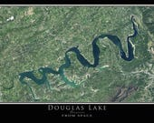 Douglas Lake Tennessee Satellite Poster Map
