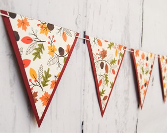 FALL BANNER - Fall Leaves Banner - RTS Banner - Fall Decor - Fall Decoration - Fall Leaves Decoration - Fall Leaves Decor - Fall Home Decor