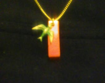 Verde Bird at Sunset Pendant