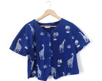 Safari Print Top/Small/Medium