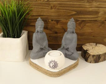 Buddha Candle Holder, Sitting Buddha, Meditation gift, Birthday Gift