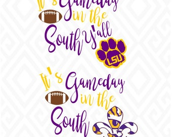 It's Gameday in the South/Tigers; SVG, DXF, Eps, Ai, Png, Jpeg and Pdf Digital Files for Electronic Cutting Machines