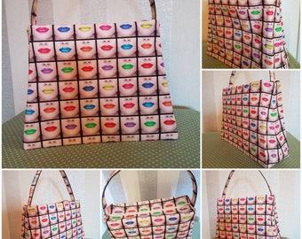 Neon Lips Make up/Cosmetics Bag. Mothers/Ladies/Girls/Bridesmaids Gift. Make up/Cosmetics Storage/Holiday/Travel/Bedroom/Bathroom Storage.