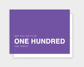 May You Live to Be 120 Funny Birthday Greeting Card