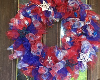 July or Independence Day door wreath