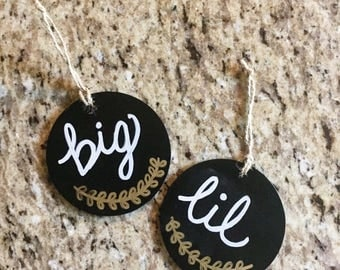Big & Lil leaf Signs (Set of 2)