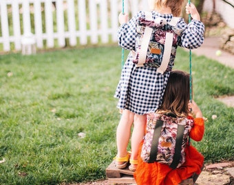 Kids Backpack, floral backpack, mini backpack, preschool backpack, handmade backpack