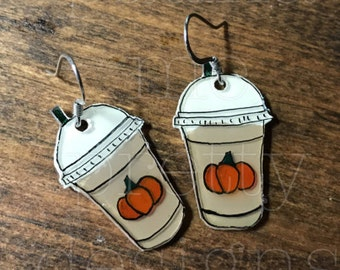 A Whole Latte Love Earrings Iced Pumpkin Spice Edition- PSL