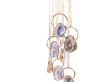 Raw Amethyst Necklace Crystal Necklace February Birthstone Amethyst Jewelry Amethyst Pendant Amethyst Gift For Her Raw Crystal Necklace Gift