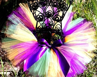 Mardi GrasTutu, Baby Tutu, Infant Tutu, Toddler Tutu, Girls Tutu, Fat Tuesday Tutu, First Birthday tutu, Toddler Tutu, Photo Prop Tutu,