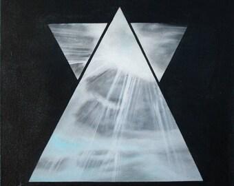 Triangle Light / Acrylic Paint
