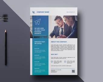 Business Flyer | A4 Corporate Flyer Template |   Ms Word and Photoshop Template, Instant Download