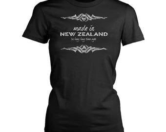 New Zeland womens fit T-Shirt. Funny New Zeland shirt.
