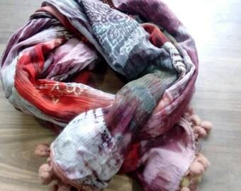 Reyon scarf printed
