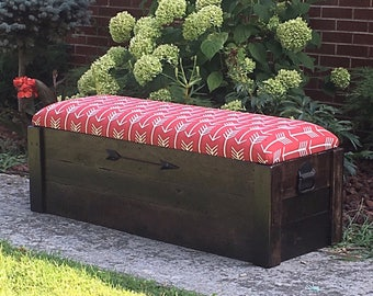 "Hope chest- Entryway bench - Toy box -Storage bench - Storage chest - 48""x17""x18"" - The Stained Titan"
