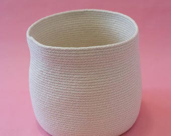 XL White Rope Basket