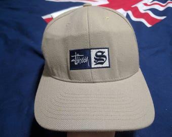 vintage 90s stussy newyork flexfits cap hat