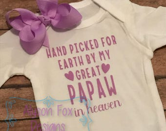 Hand Picked for Earth By (loved one) In Heaven