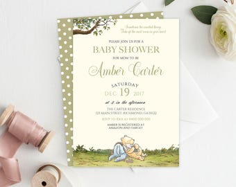 Winnie the Pooh Baby Shower Invitation - Printable Winnie the Pooh Baby Shower Invitation - Baby Shower Invitation - Winnie the Pooh 03