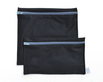 Sacs à sandwich et collation réutilisables - noir - Reusable bags - 1 snack bag 1 sandwich bag