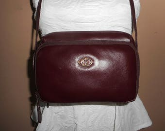 VINTAGE ETIENNE AIGNER Burgundy Cross Body/Shoulder Bag