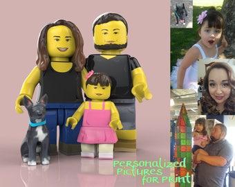 famille lego portrait de famille personnalis id e cadeau. Black Bedroom Furniture Sets. Home Design Ideas