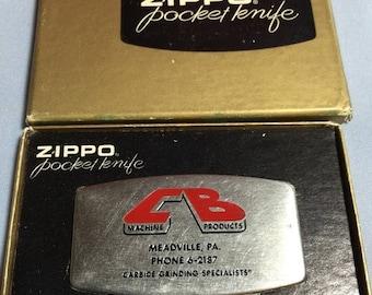 """ON SALE"""""""""""" Vintage Zippo brand Knife Meadville Pa"""