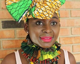 Headwrap African- Headband Women- African Print Scarf- Head scarf- Head Wrap- Head bands- Baby Headband- Scarf- Headwrap- African Headwrap