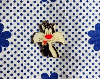 "Enamel Pin ""Sylvester/Looney Toons"" 90's Retro Vintage"
