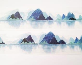 Design Washi tape Mountains Lake Nature Masking tape