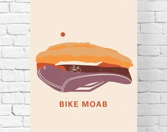 Bicycling Gift Ideas – Moab Utah - Poster – Gifts for Wanderlust - Home Décor – Bicycle Print Décor – Utah – Adventure – Nursery Print
